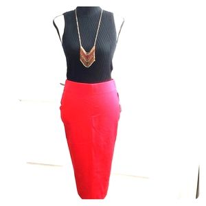 NWT Stunning red ponte pencil skirt